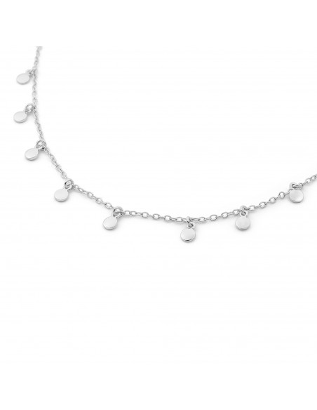 Collar Plata mini placas